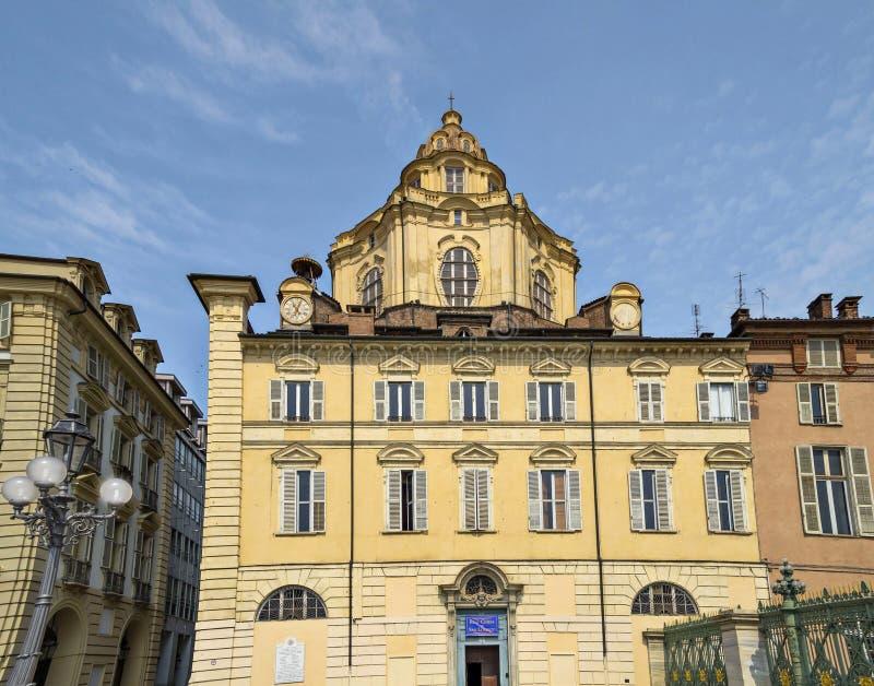 Королевская церковь San Lorenzo, Турина стоковое изображение