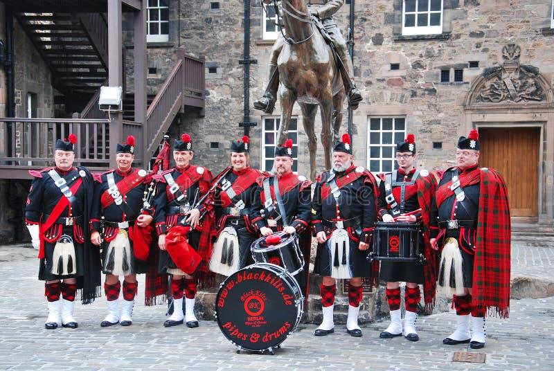 Королевские Scots предохранители драгуна в Эдинбурге стоковые фото