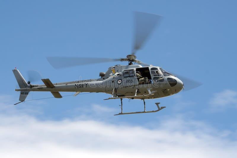 Королевский австралийский военно-морской флот AS350 стоковые изображения