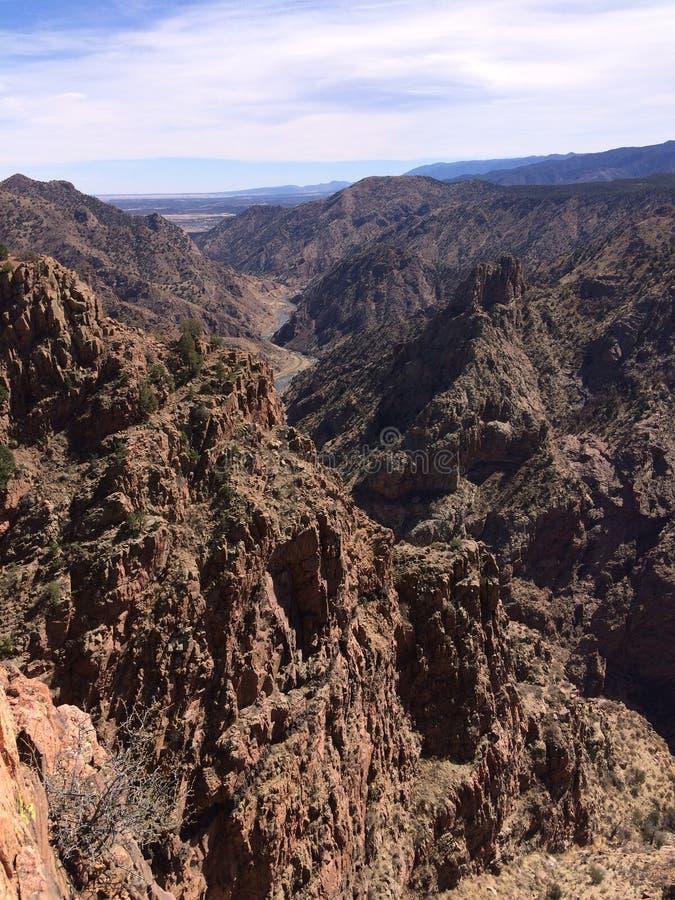 Королевский взгляд пика каньона ущелья стоковое фото
