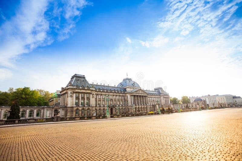 Королевский дворец Брюсселя на дневном времени в Бельгии стоковое фото rf