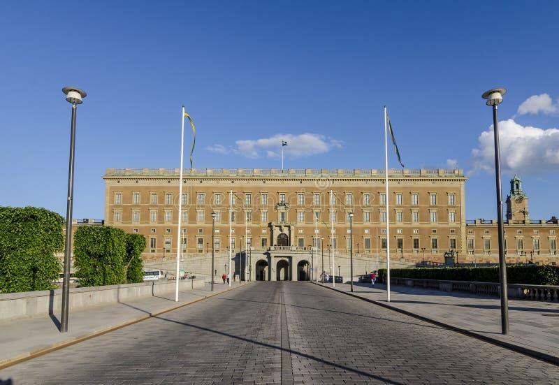 Королевский дворец и Norrbro, Стокгольм стоковое фото
