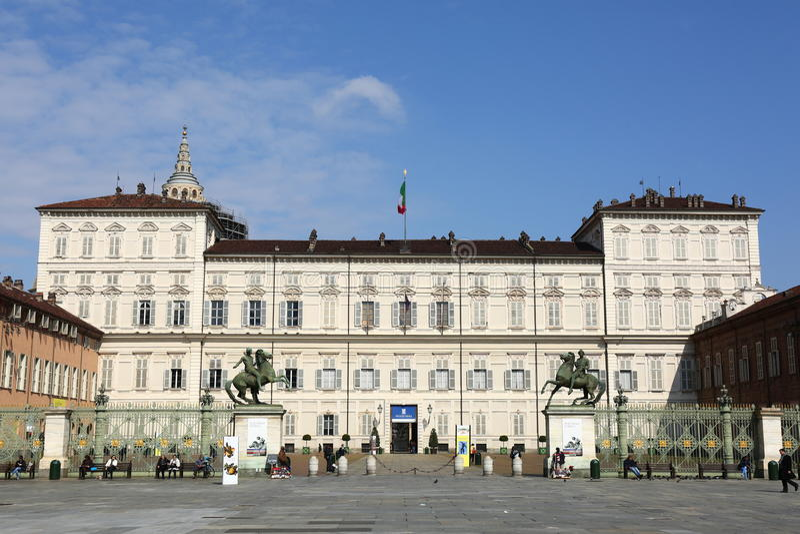Королевский дворец, Турин, Италия стоковая фотография