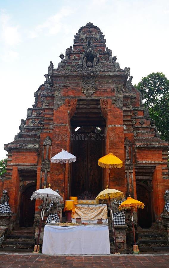 Королевский дворец, Klungkung, Бали, Индонезия стоковые фото