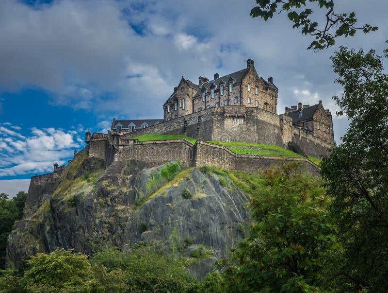 Королевский замок в Эдинбурге стоковые изображения rf