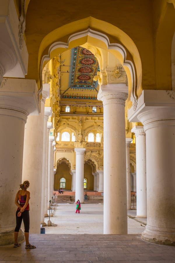 Королевский интерьер в дворце Джайпура, Индии стоковые фотографии rf