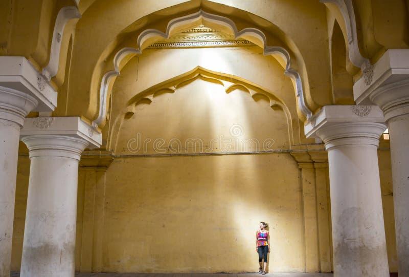 Королевский интерьер в дворце Джайпура, Индии стоковые изображения
