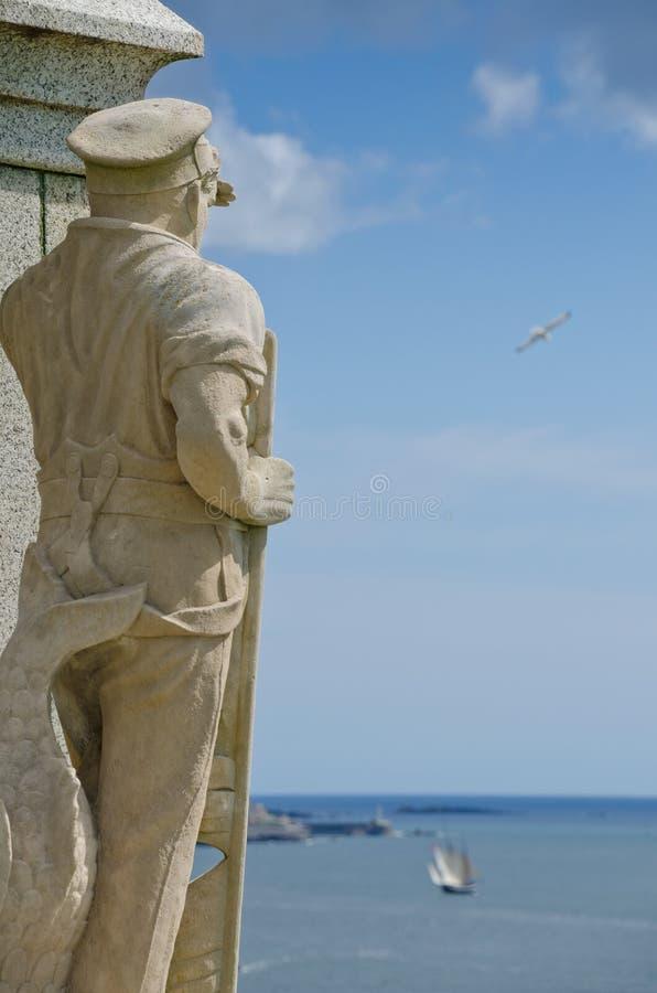 Королевский мемориал морских пехотинцов, сапка Плимута стоковые фотографии rf