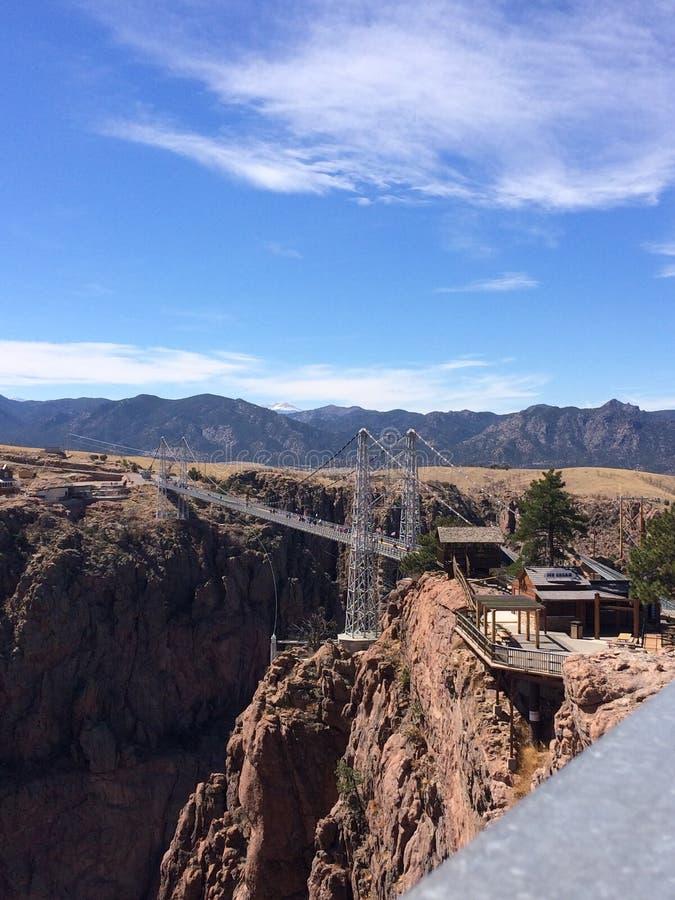 Королевский мост ущелья в городе карамболя, Колорадо стоковое фото