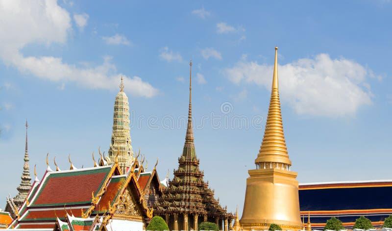 Королевский ориентир ориентир здания виска Бангкока Таиланда стоковая фотография rf