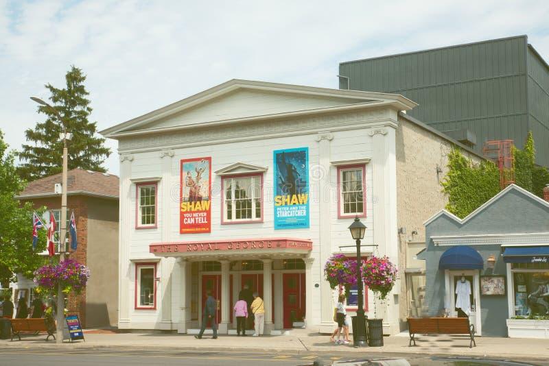 Королевский театр Джордж в Niagarra Канаде стоковое фото