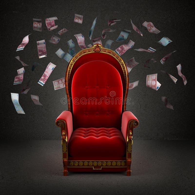Королевский трон в комнате стоковые изображения rf
