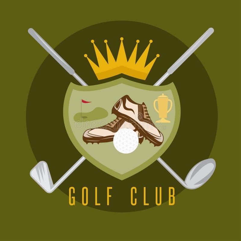 Королевский шаблон вектора герба гольф-клуба иллюстрация штока