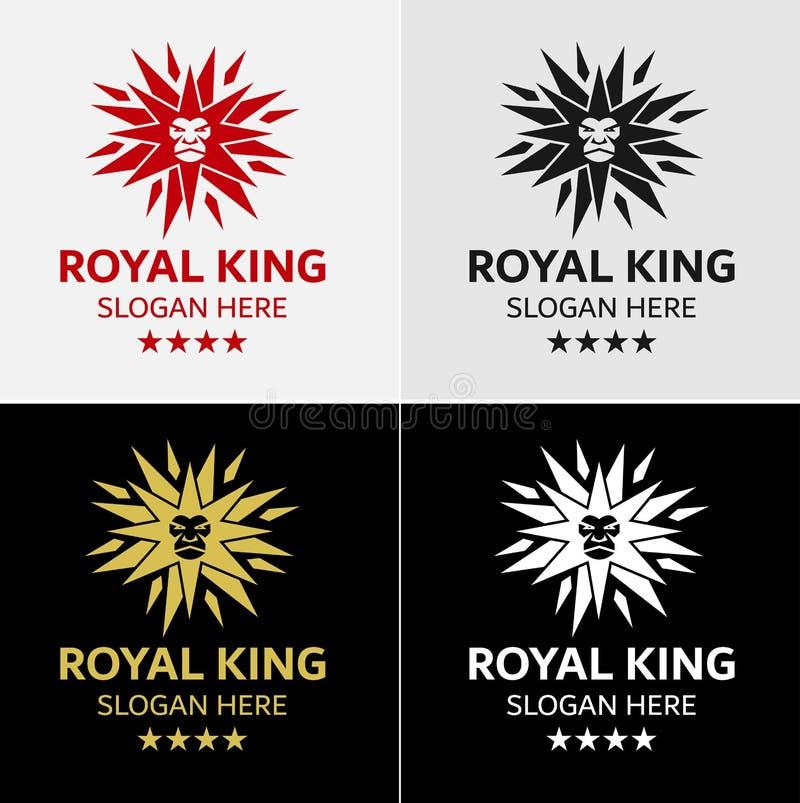 Король Звезда Логотип Шаблон льва иллюстрация штока