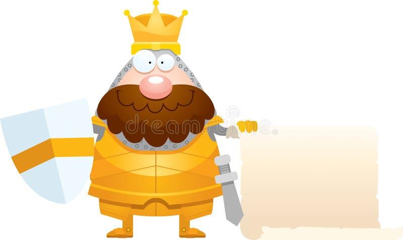 Король Знак шаржа иллюстрация штока