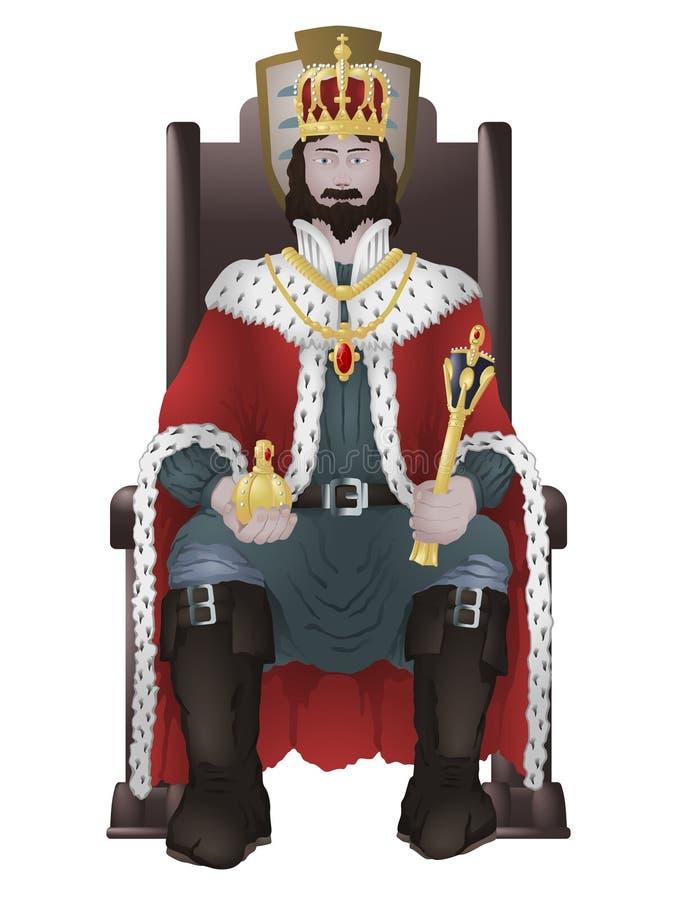 Король на троне бесплатная иллюстрация