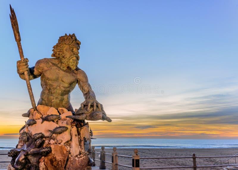 Король Нептун на парке Нептуна, Virginia Beach стоковая фотография