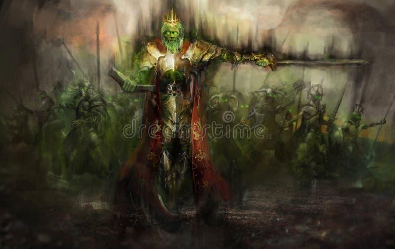 Король смерти иллюстрация штока