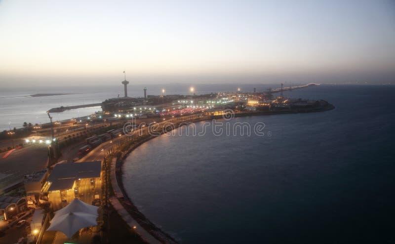 Король Fahd Мощёная дорожка над заливом Бахрейна стоковая фотография
