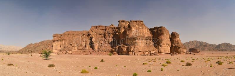 Король Solomons парка Timna минирует панораму Израиль стоковая фотография