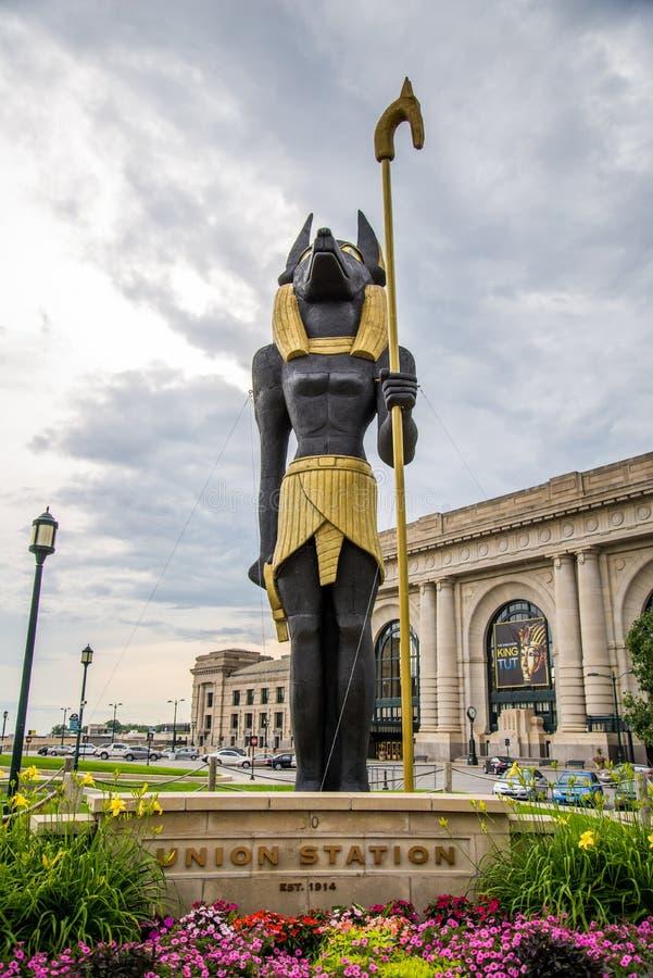 Король Tut Показывать Соединение Станция Kansas City Миссури стоковые фотографии rf
