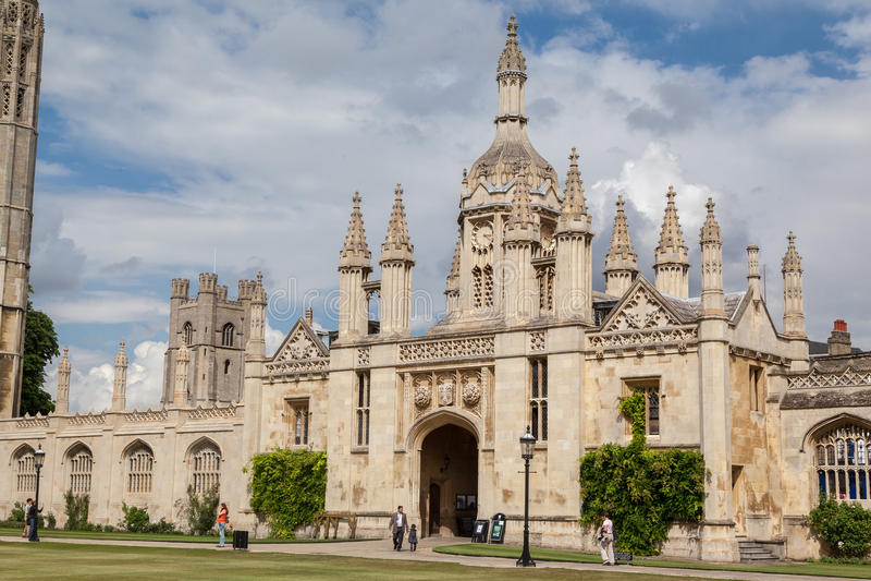 Короля Коллеж Кембридж Англия стоковое изображение rf