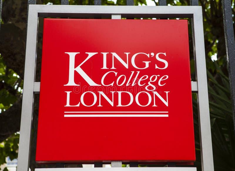 Короля Коллеж Лондон стоковое изображение