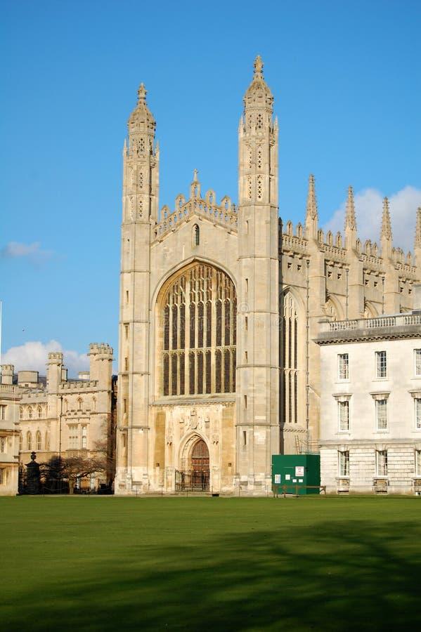 Короля Коллеж Часовня, Кембридж, Великобритания стоковые фотографии rf