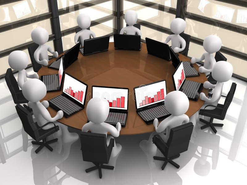 корпоративная встреча иллюстрация вектора