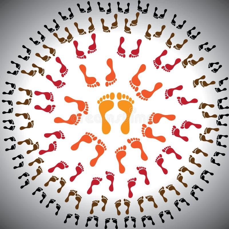 корпоративная иерархия принципиальной схемы выравнивает управление иллюстрация штока