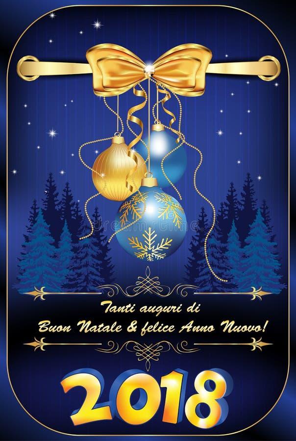 Корпоративная поздравительная открытка зимнего отдыха для итальянских компаний бесплатная иллюстрация