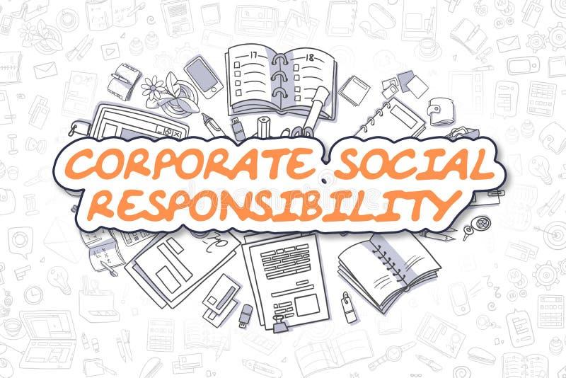 Корпоративная социальная ответственность - концепция дела иллюстрация вектора