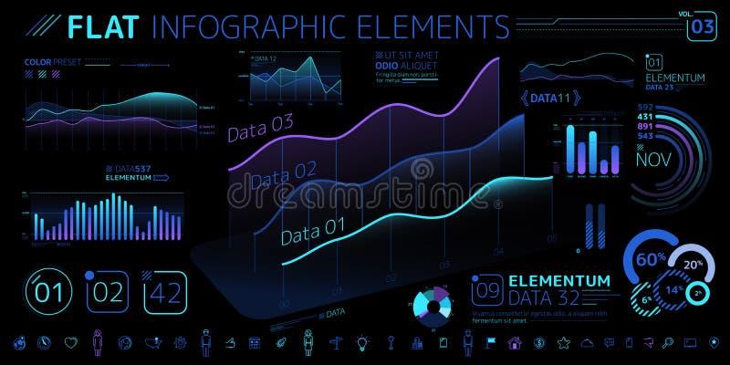 Корпоративное собрание элементов вектора Infographic бесплатная иллюстрация