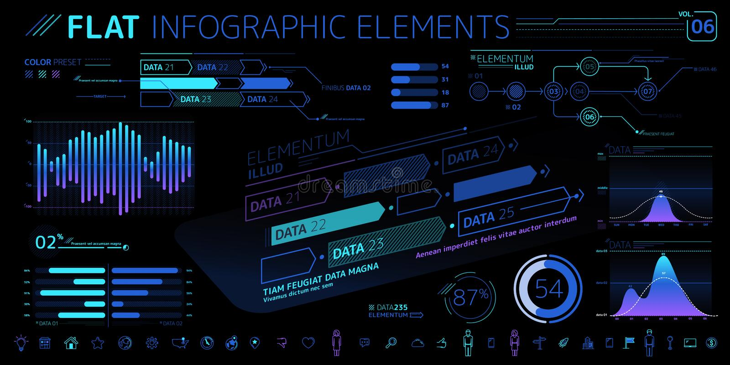 Корпоративное собрание элементов вектора Infographic иллюстрация вектора