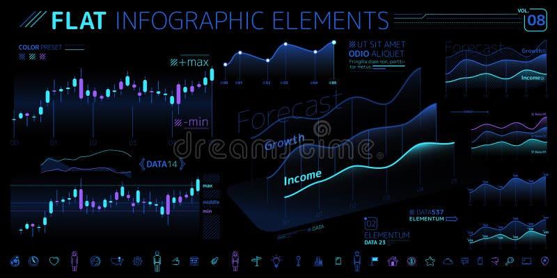 Корпоративное собрание элементов вектора Infographic иллюстрация штока