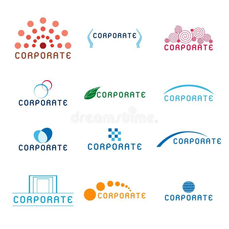 корпоративные логосы иллюстрация штока