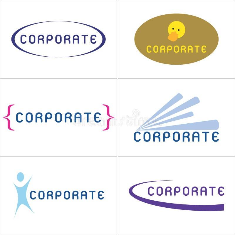 корпоративные логосы иллюстрация вектора