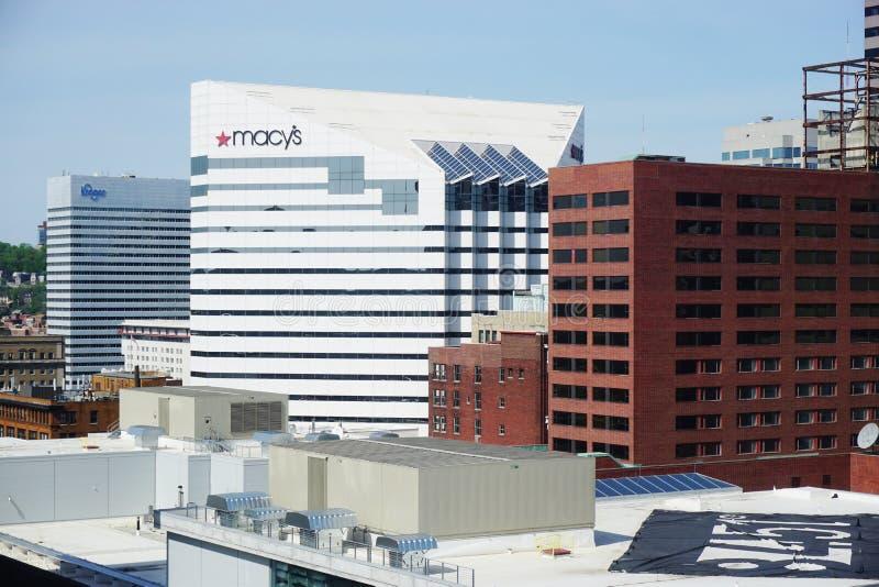 Корпоративные штабы Macy's в Цинциннати стоковая фотография