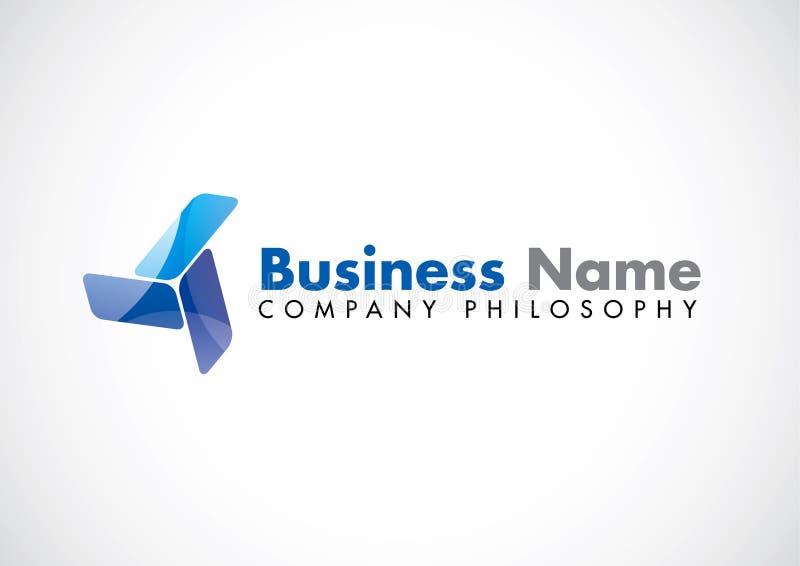 корпоративный вектор логоса иллюстрация штока