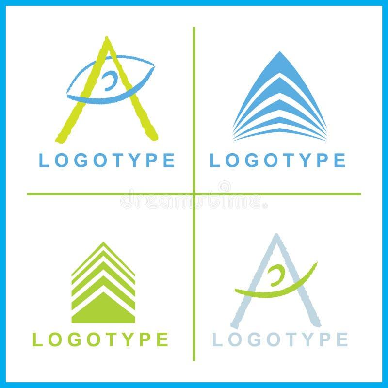 корпоративный вектор логосов иллюстрация вектора