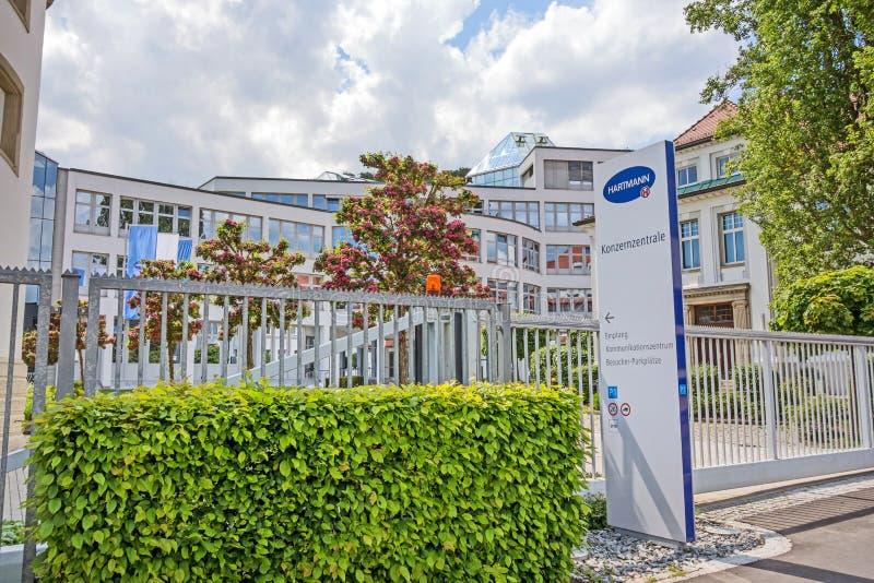 Корпоративный головной офис Hartmann AG, Heidenheim, Германию стоковые фотографии rf