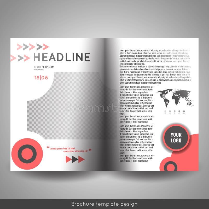 Корпоративный дизайн шаблона брошюры bi-створки Годовой отчет, представление, обложка книги или рогулька бесплатная иллюстрация