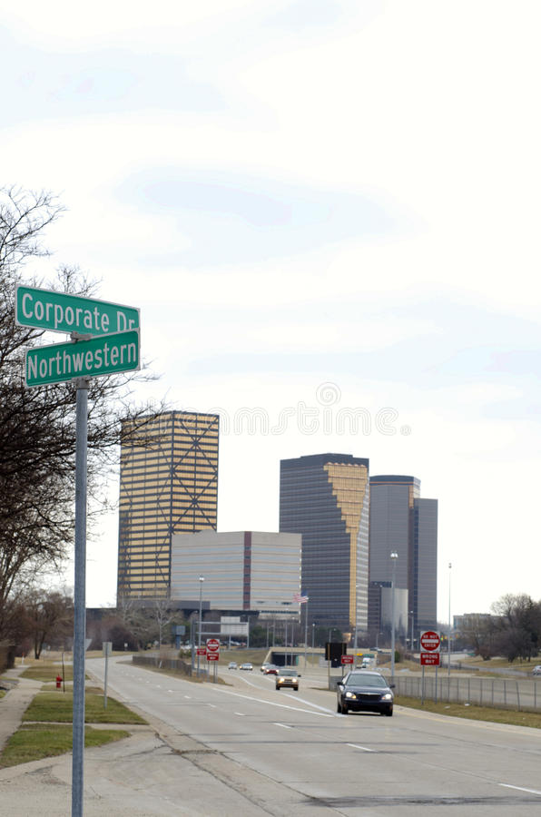 Корпоративный знак улицы привода стоковые изображения rf