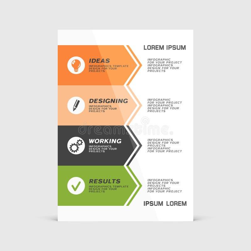 Корпоративный дизайн бумажной крышки рогульки или брошюры бесплатная иллюстрация