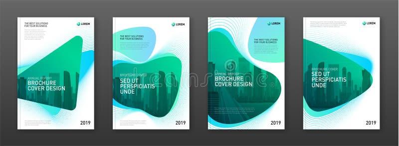 Корпоративный шаблон дизайна крышки брошюры для дела и конструкции иллюстрация вектора