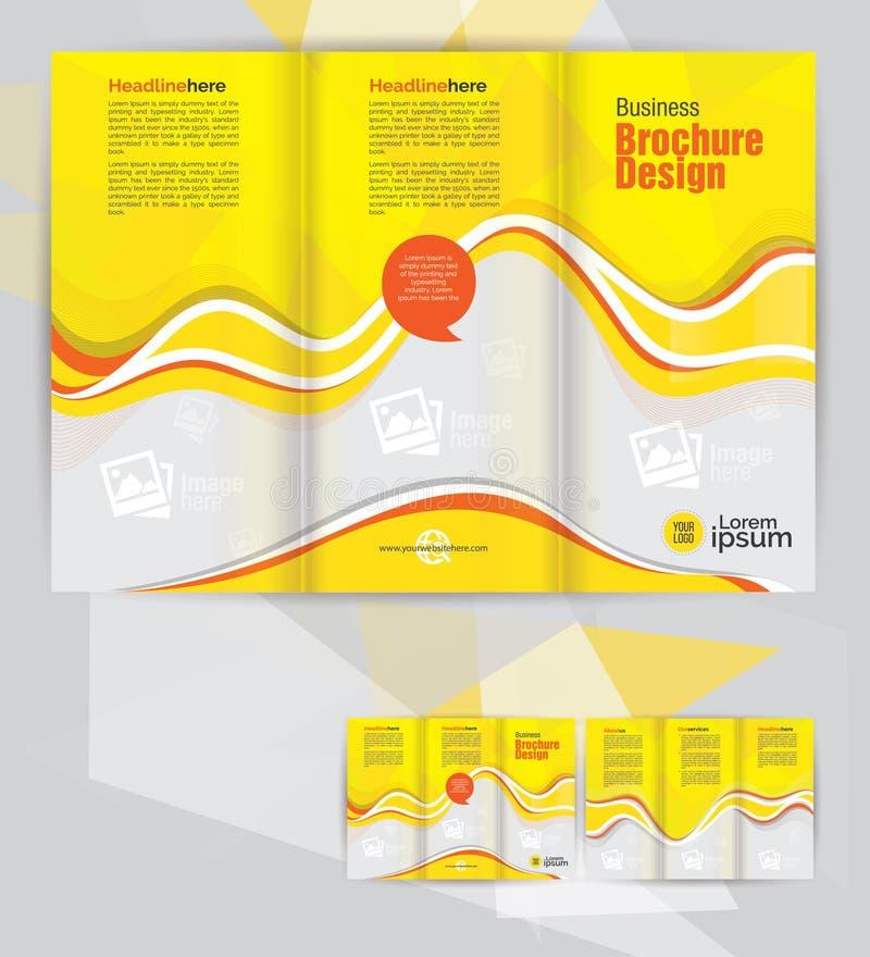 Корпоративный trifold шаблон дизайна брошюры дела иллюстрация вектора