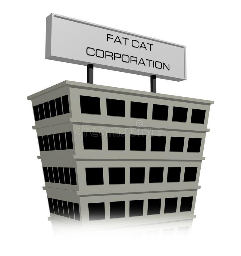 Корпорация денежного мешка иллюстрация штока