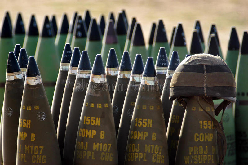 Корпус артиллерии - Израиль стоковая фотография rf