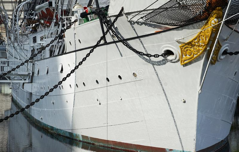 Корпус парусной лодки стоковое фото rf