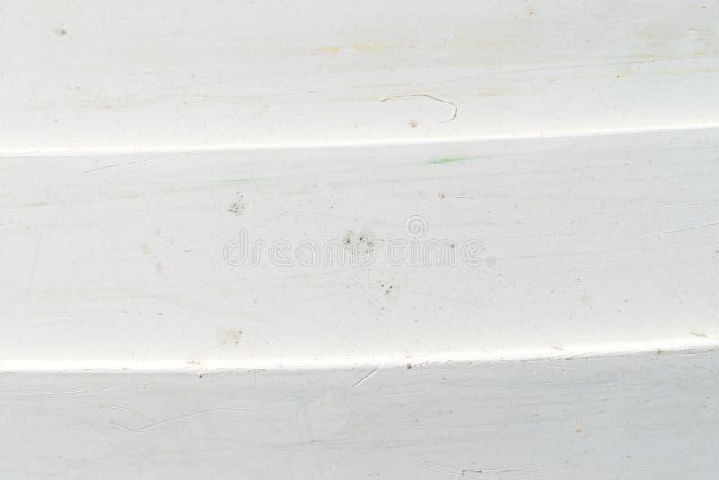 Корпус шлюпки пакостной белой стеклоткани lapstrake стоковое фото rf